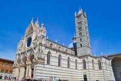 Siena Cathedral Duomo di Siena, Stadtkathedrale des Heiligen stockbild