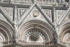 Siena Cathedral, eingeweiht der Annahme des gesegneten Virg lizenzfreies stockfoto