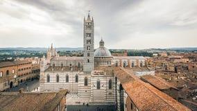 Siena Cathedral el centro histórico imagen de archivo