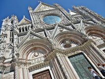 Siena cathedral. Facade of siena cathedral in tuscany, italy Royalty Free Stock Photography