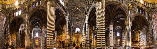 Siena cathedral interior panorama Royalty Free Stock Photos