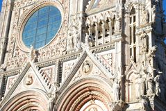 Siena Cathedral, landmark, building, cathedral, architecture. Siena Cathedral is landmark, architecture and place of worship. That marvel has building, facade stock photo