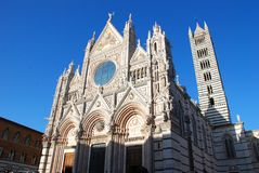 Siena Cathedral, landmark, building, spire, cathedral. Siena Cathedral is landmark, cathedral and gothic architecture. That marvel has building, place of worship stock images