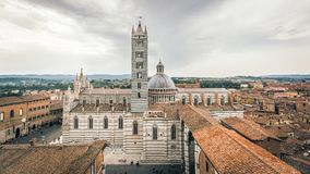 Siena Cathedral the Historic Center stock image