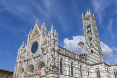 Siena Cathedral is a medieval church built in Romanesque and Got Stock Photography