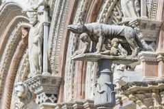 Siena Cathedral is a medieval church built in Romanesque and Got Royalty Free Stock Photos