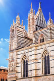 Siena Cathedral Santa Maria Assunta /Duomo di Siena i Siena Arkivfoton