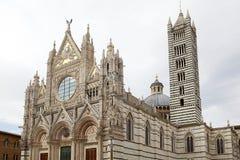 Siena Cathedral Siena, Tuscany, Italien Royaltyfri Bild
