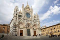 Siena Cathedral Siena, Tuscany, Italien Royaltyfri Foto