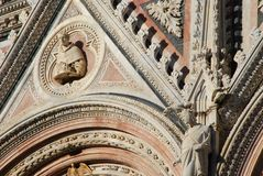 Siena Cathedral, structure, building, cathedral, architecture. Siena Cathedral is structure, architecture and ancient history. That marvel has building, place of royalty free stock images