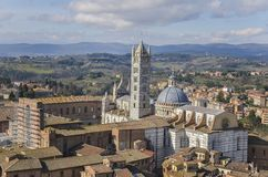 Siena Cathedral, Toscanië Stock Foto's