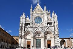 Siena Cathedral, Toscanië, Siena, Italië Royalty-vrije Stock Afbeeldingen