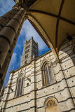 Siena Cathedral Tower through Arch-Siena,Italy Stock Photo