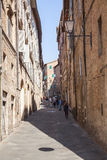 Siena charming narrow streets medieval town Stock Images