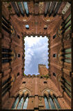 Siena Church Upward View Royalty Free Stock Photos