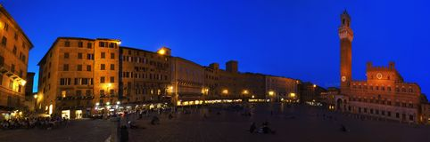 Siena, a city in central Italy's Piazza del Campo Stock Images