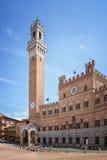 Siena City Hall on Piazza del Campo, Tuscany, Ital Stock Photography