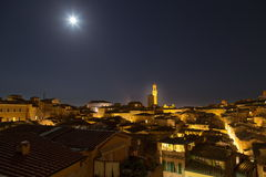 Siena City Night Royalty Free Stock Photos