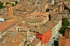 Siena city panorama, Italy Royalty Free Stock Photo