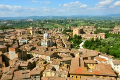 Siena city panorama, Italy Stock Photos