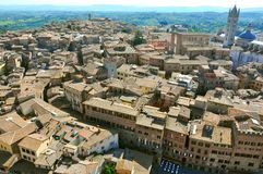 Siena city panorama, Italy Stock Photography