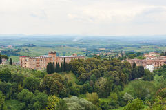 Siena city. In Tuscany, Italy, Urban View Royalty Free Stock Photography