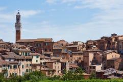 Siena city. In Tuscany, Italy, Urban View Royalty Free Stock Photos
