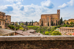 The Siena cityscape in southern Tuscany, Italy Stock Image