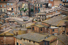 Siena colored roofs and walls Royalty Free Stock Photo