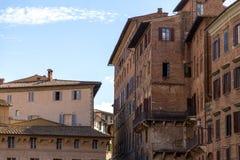 Siena de middag van het straatlandschap royalty-vrije stock foto