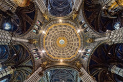 Siena dome cathedral interior ceiling view Royalty Free Stock Photography