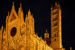 Siena Dome By Night Royalty Free Stock Photos