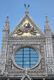 Siena Duomo #3. Closeup view, detail of wonderful and famous dome of Siena, Italy Stock Photo