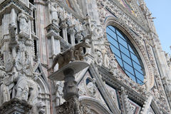 Siena Duomo #5. Closeup view, detail of wonderful and famous dome of Siena, Italy Stock Photography