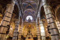 Siena Duomo di Diena Royalty-vrije Stock Afbeelding