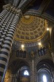 Siena Duomo interior. Architecture and marble inside the Duomo in Siena Cathedral, Siena, Tuscany, Italy royalty free stock photography