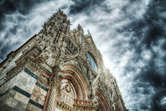 Siena Duomo seen from below Royalty Free Stock Photos