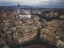 Siena en invierno foto de archivo libre de regalías