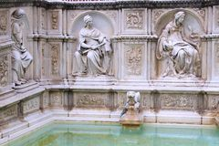 Siena fontanna Zdjęcie Stock
