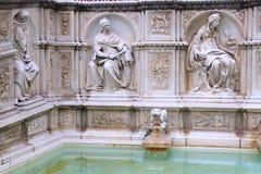 Siena fontein Stock Foto