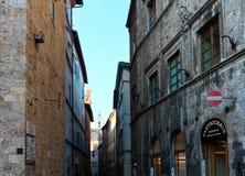 Siena gataplats, Tuscany, Italien Royaltyfri Foto