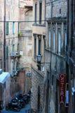 Siena gataplats, Tuscany, Italien Arkivfoton