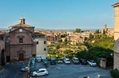 Siena gataplats, Tuscany, Italien Royaltyfria Bilder