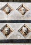 Siena het detail van de Koepel Stock Afbeelding