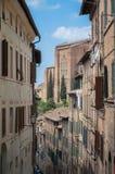 Siena Hills chez la Toscane Photos stock