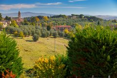 Siena. The hills of Tuscany. Royalty Free Stock Images