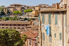 Siena houses. Typical Siena houses in Tuscany, Italy Stock Photography