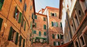 Siena hus royaltyfri bild