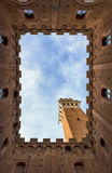 Siena, the inner courtyard of the City Royalty Free Stock Photos