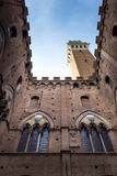 Siena, inner courtyard of the municipal palace Royalty Free Stock Photos